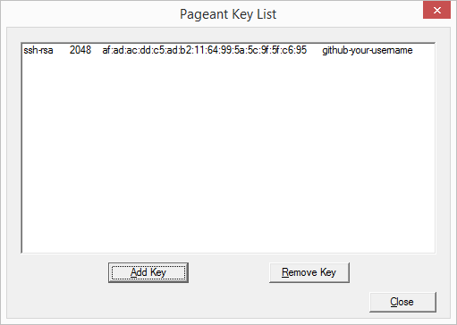 Pageant Key List